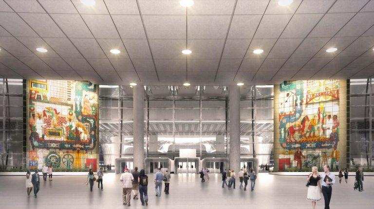 Proyecto de traslado de los murales del Conjunto SCOP al Nuevo Aeropuerto Internacional de la Ciudad de México propuesto por FR-EE Fernando Romero Enterprise.