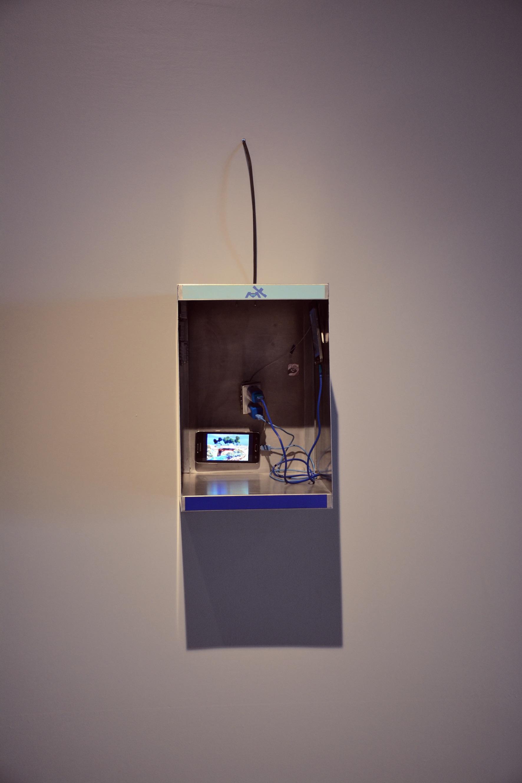 """Vista del montaje para """"Espectro  Barranca del Muerto """"   de Israel Urmeer para la muestra  Notas para una educación (-económico) sentimental , Museo del Chopo, 2017."""