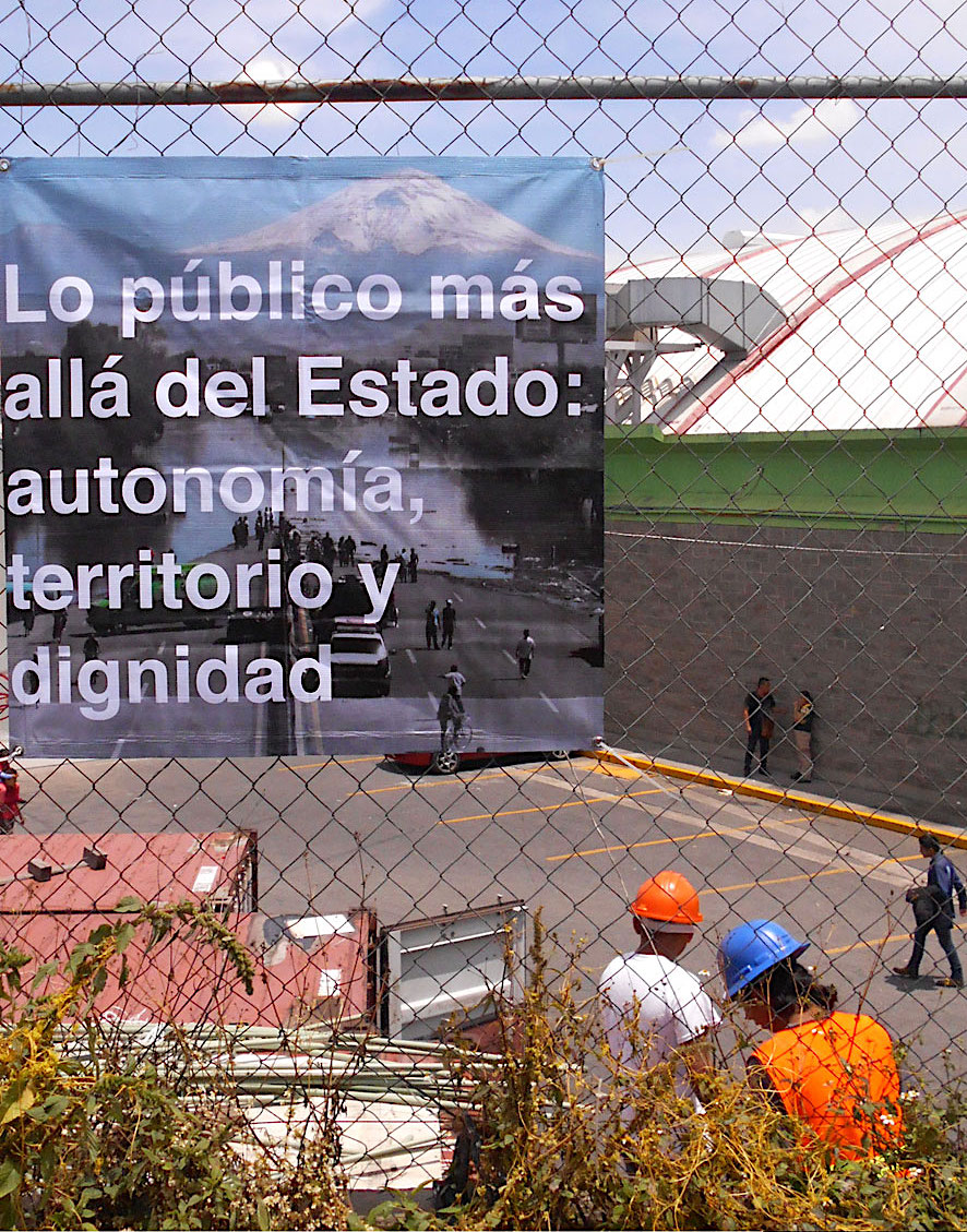 Imagen: colaboración entre Abraham Cruz Villegas e Irmgard Emmelhainz.