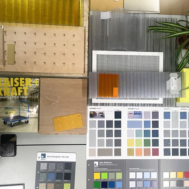 Playing around with materials, textures and colours for our fit-out. This ain't gonna be your average kitchen!!