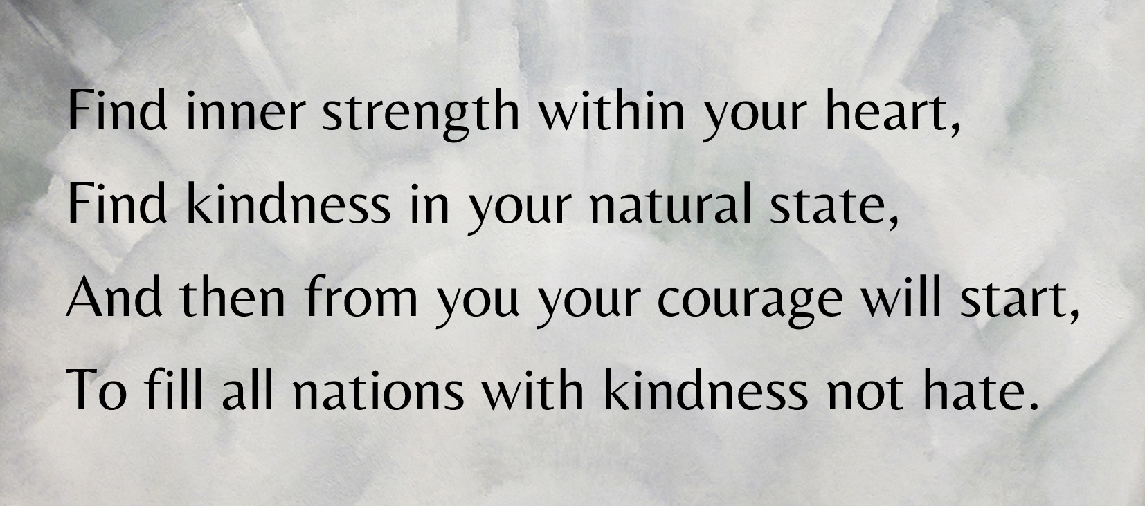 A rhyming couplet exploring kindness and courage