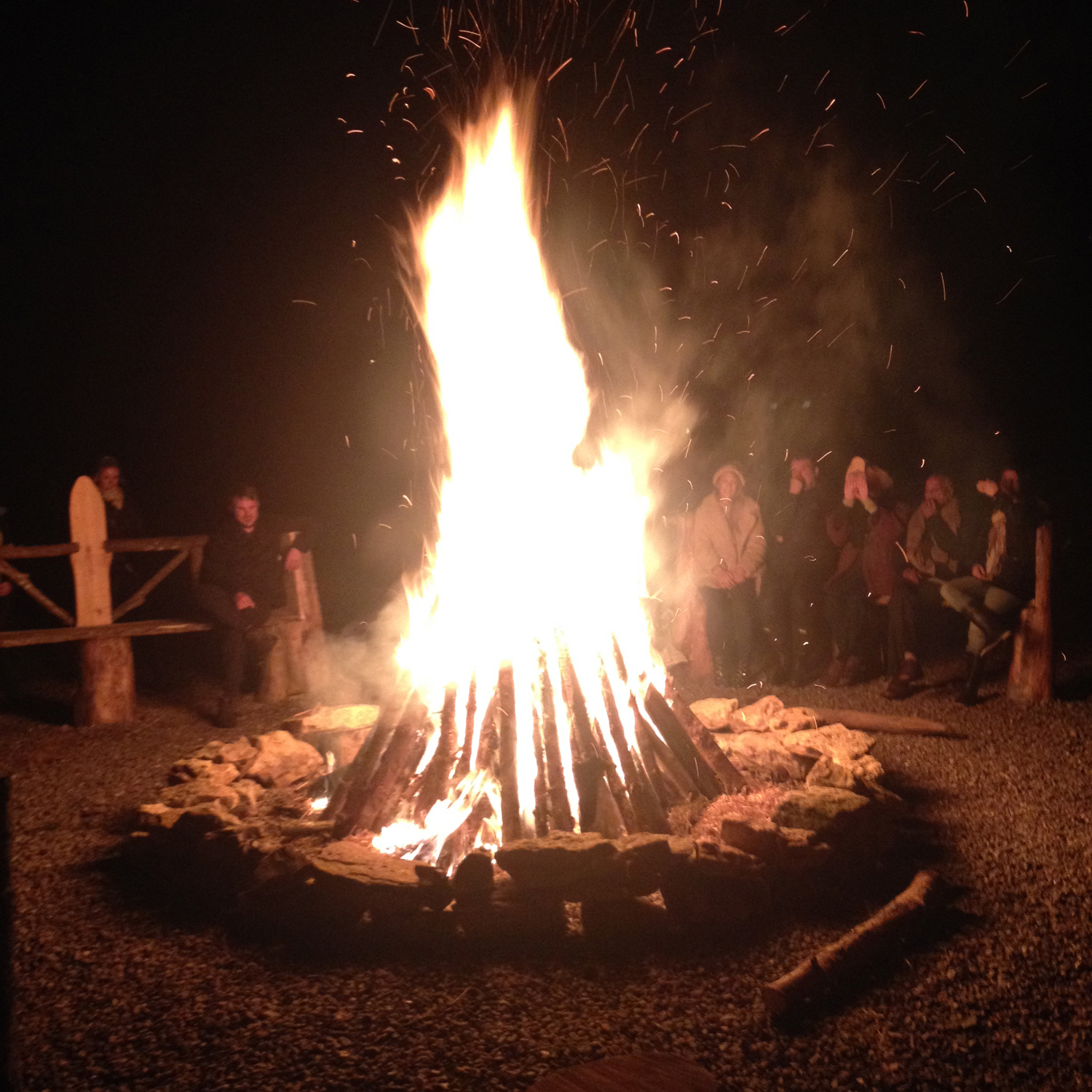 We shared poems, stories and songs around this magical bonfire