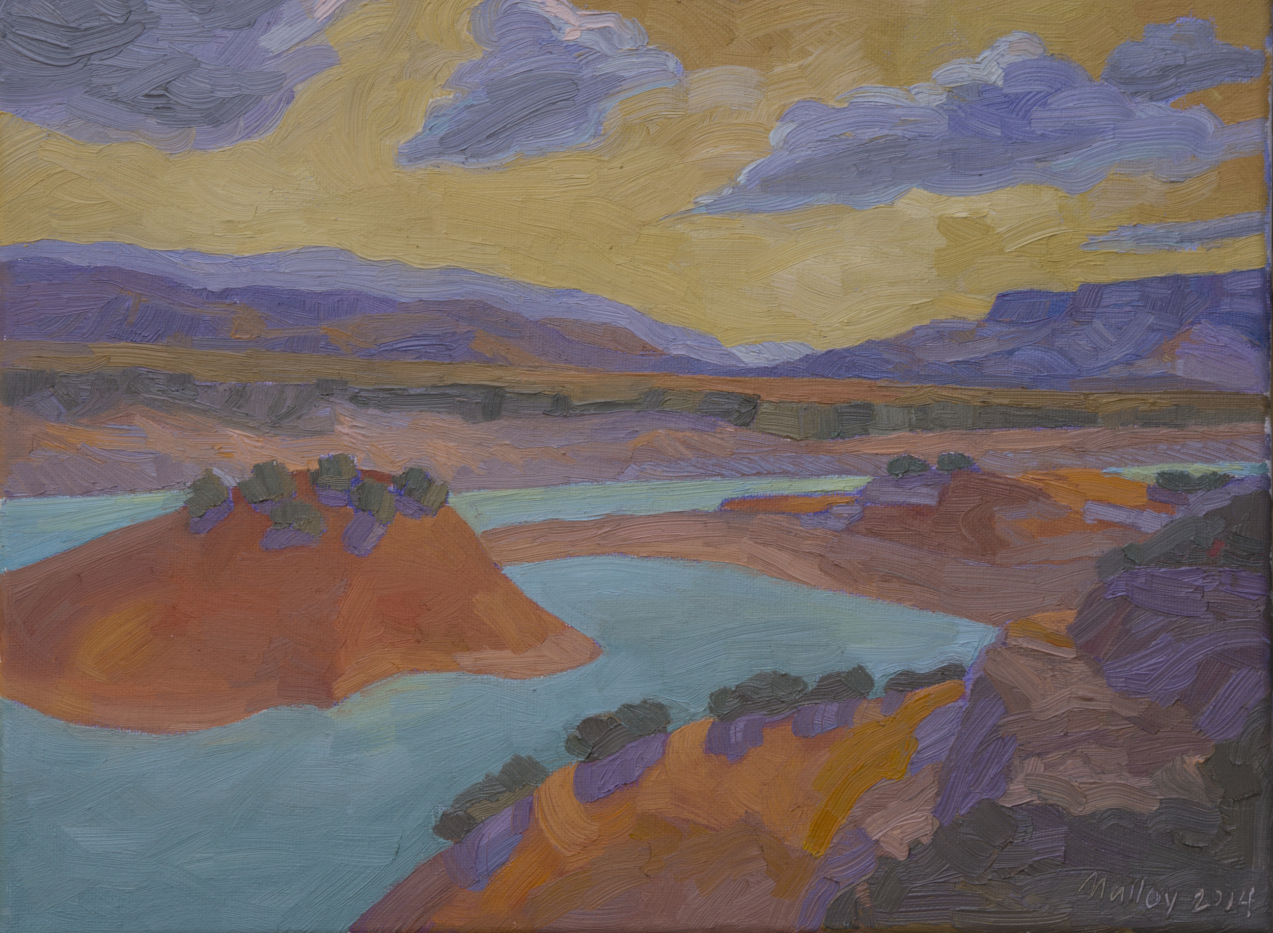 "Copy of Ghost Ranch Abiquiu Lake. Oil on canvas, 12""x16"", 2014"