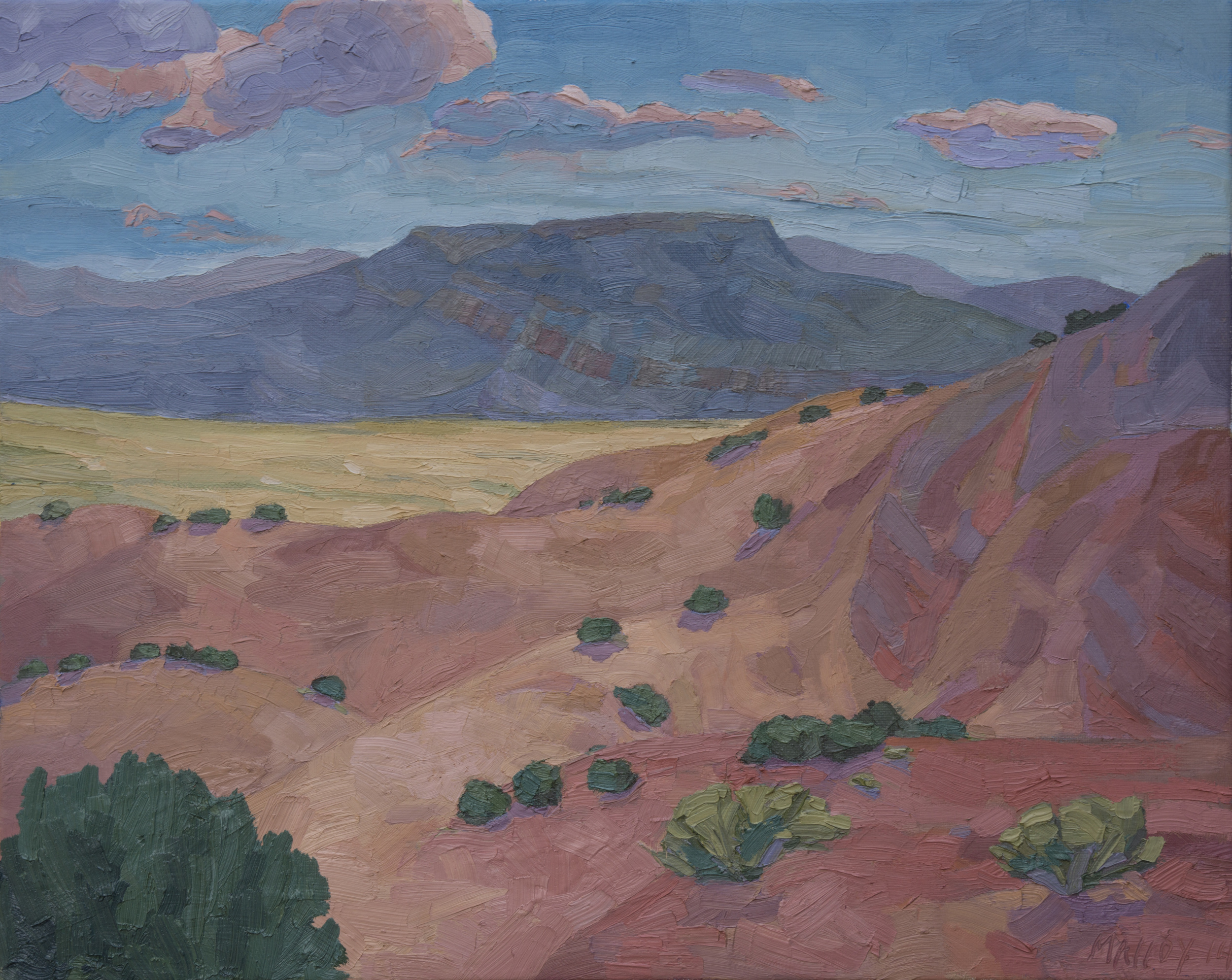 "Copy of Ghost Ranch Mesa. Oil on canvas, 16""x20"", 2014"