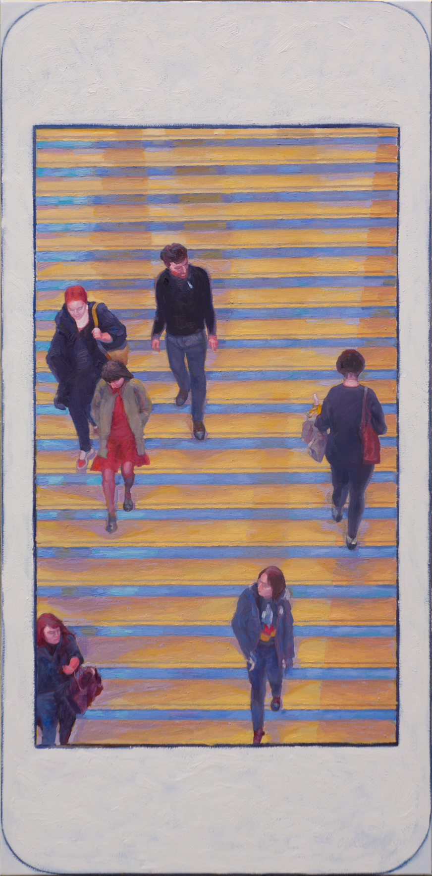 """Hashtag METmuseum grand staircase 1.  Oil on canvas 24"""" x 48"""" 2015"""