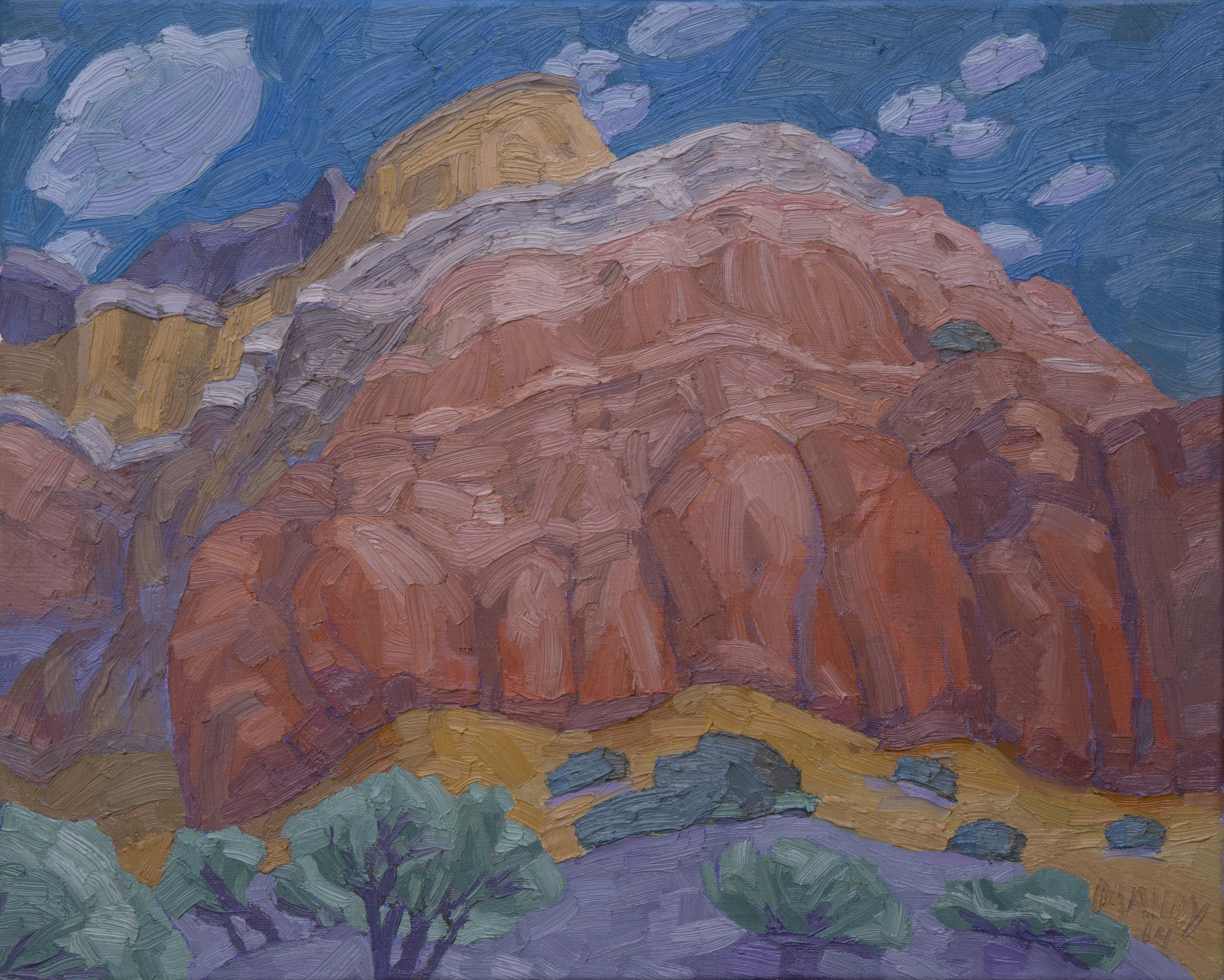 "Copy of Ghost Ranch Echo Canyon. Oil on canvas 16""x20"", 2014"