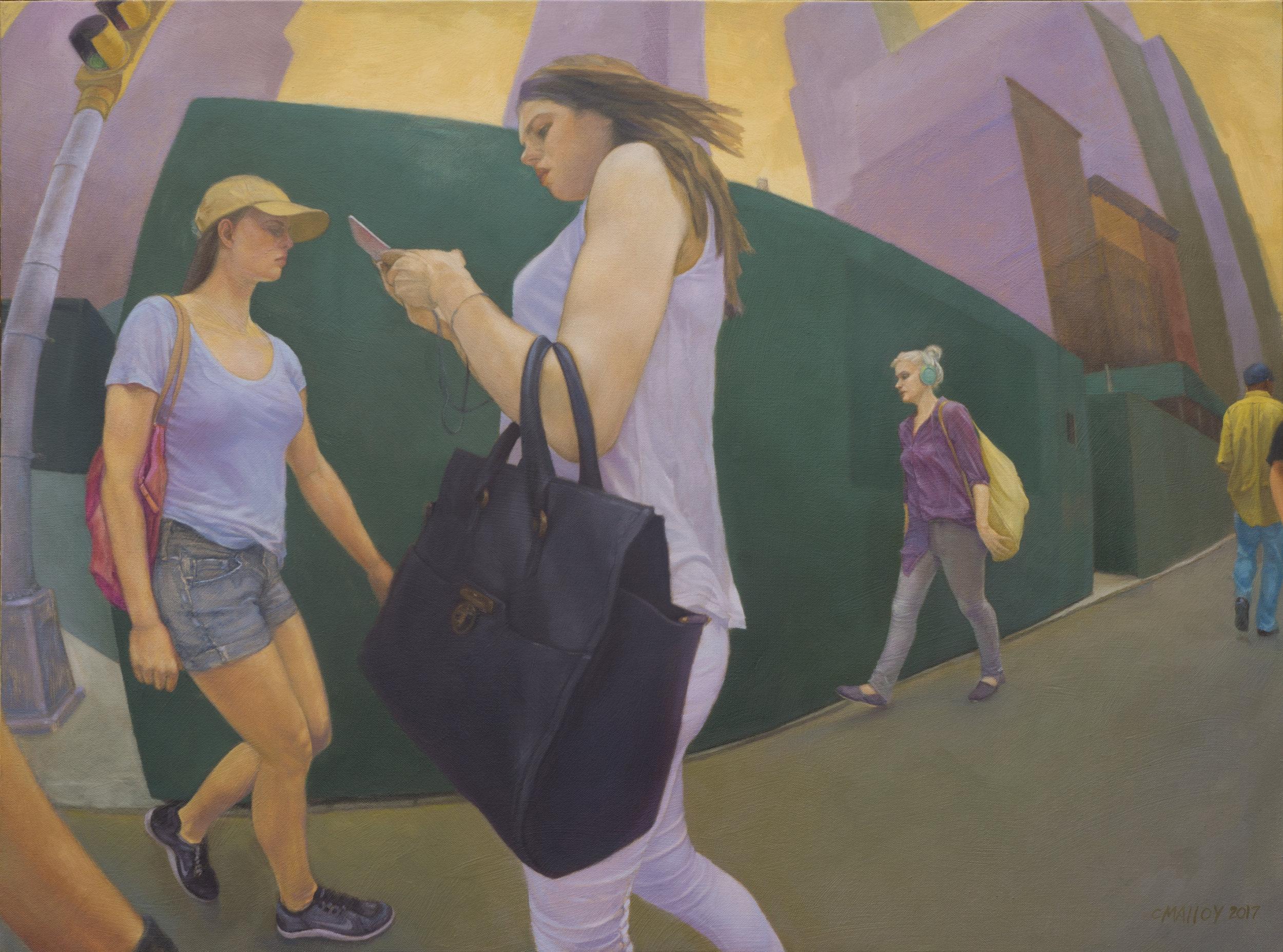 "Crosswalk: 5th Ave. NYC.  30"" x 40"" 2017"