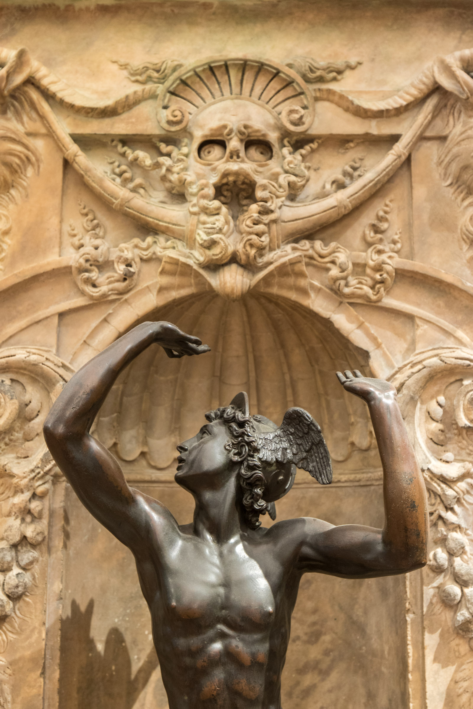 A bronze statue of Mercury from the 1550's