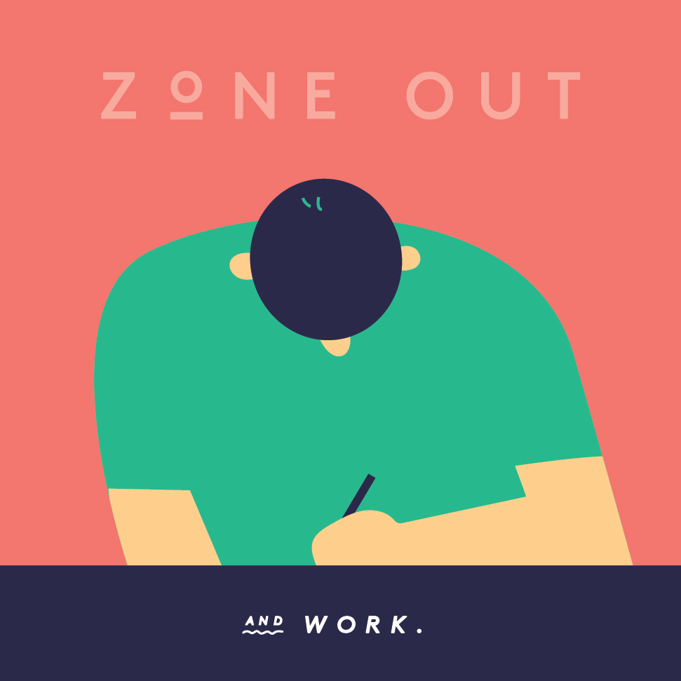 Rdio album cover for my 'Zone Out and Work' playlist