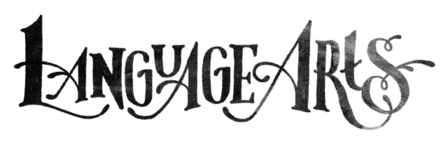 Unused lettering for Toronto band, Language Arts