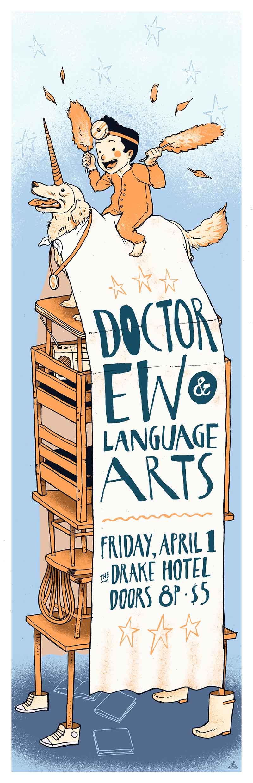 Poster illustration for Language Arts