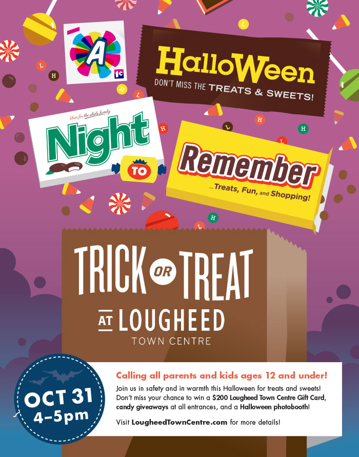 Killed direction for Lougheed Town Centre 2013 Halloween Campaign - Completed at Free Agency Creative