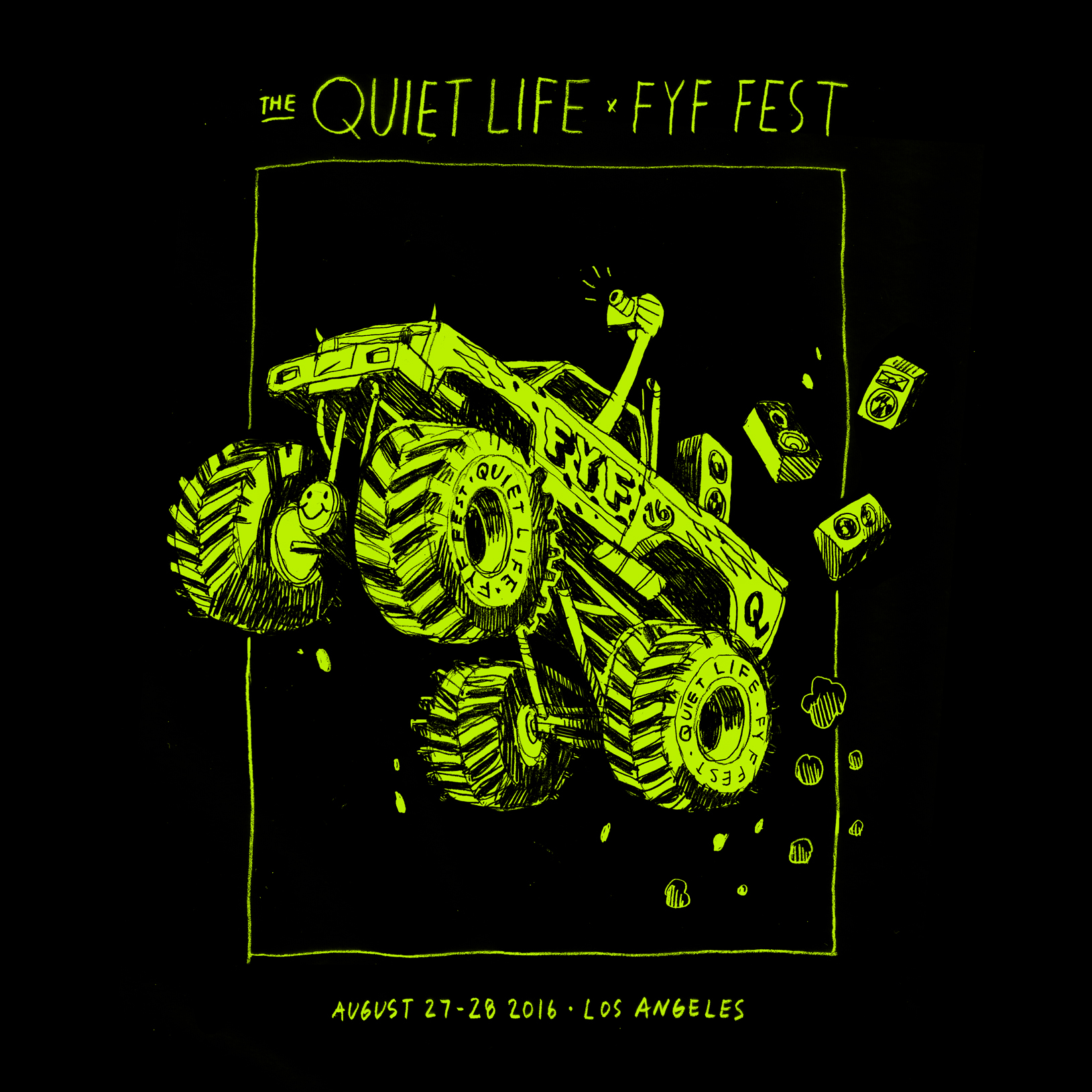 Unused direction for the Quiet Life x FYF Fest 16