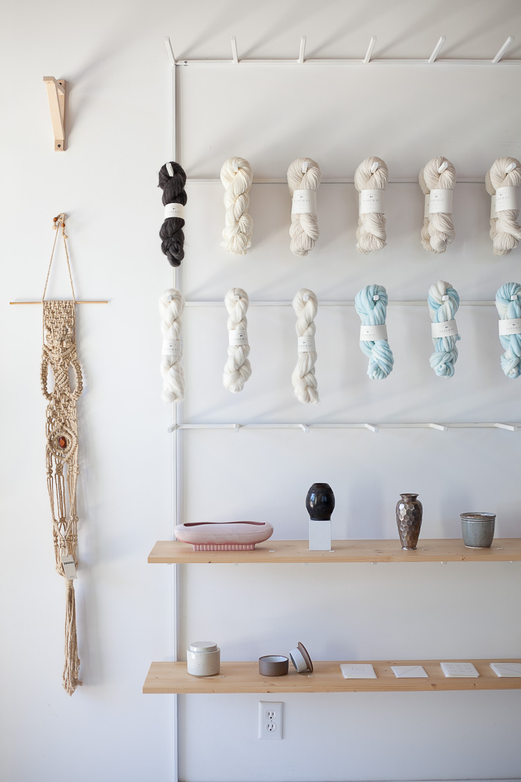 I don't knit, but the yarns at Earthen Studio make me want to.