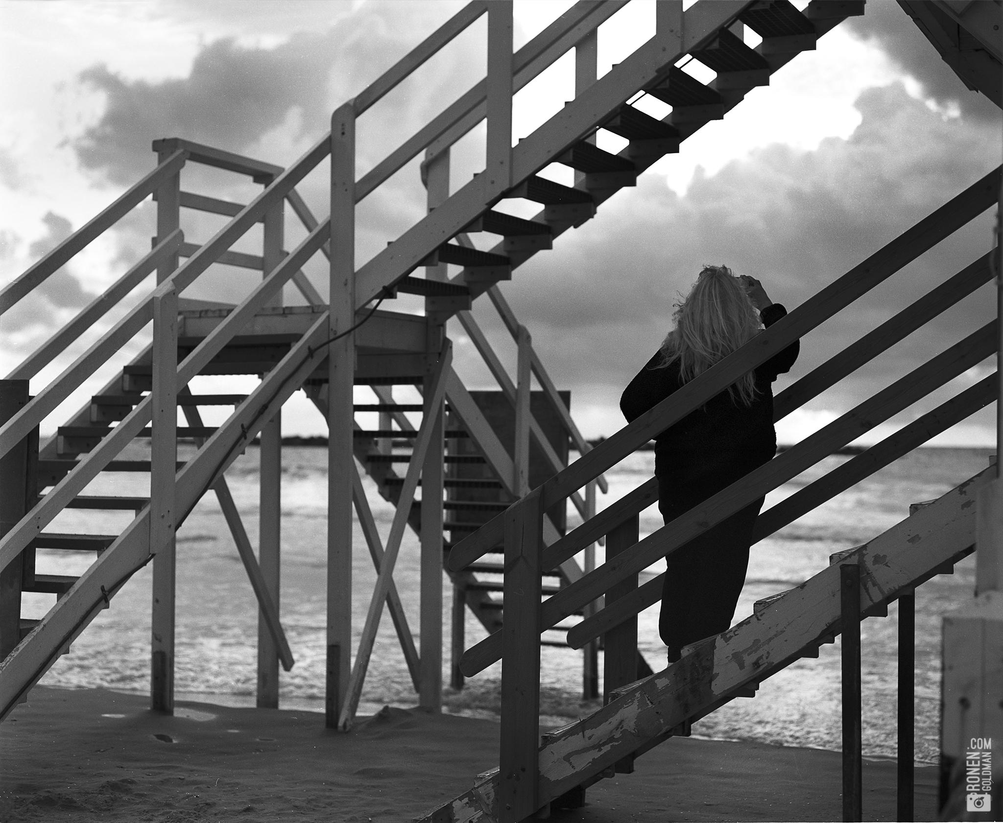 ladder beach watcherBW.jpg