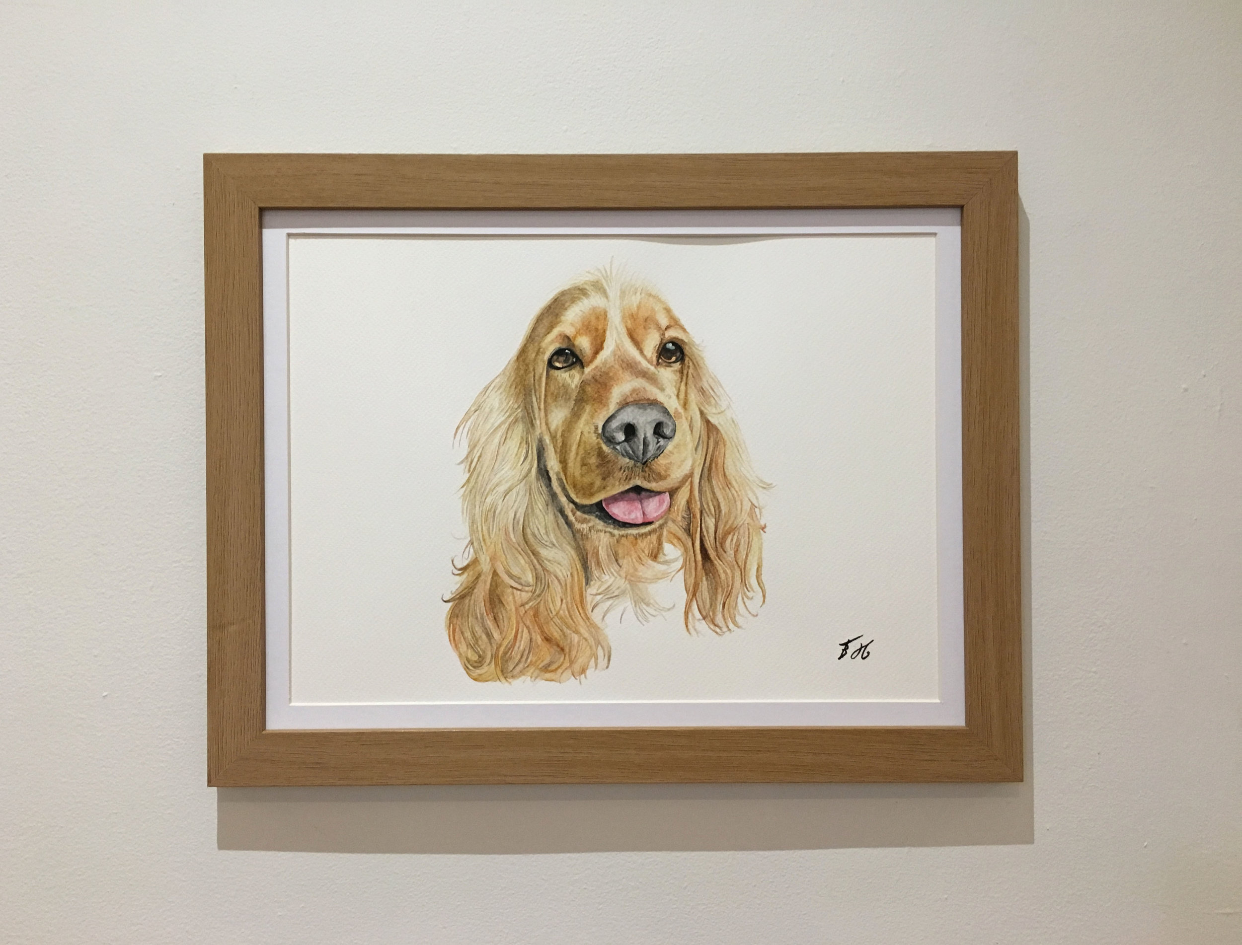 leighs dog framed.jpg