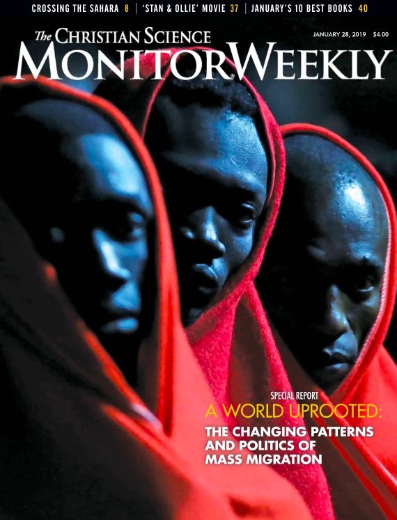 Cover of January 28, 2019 issue of The Christian Science Monitor.