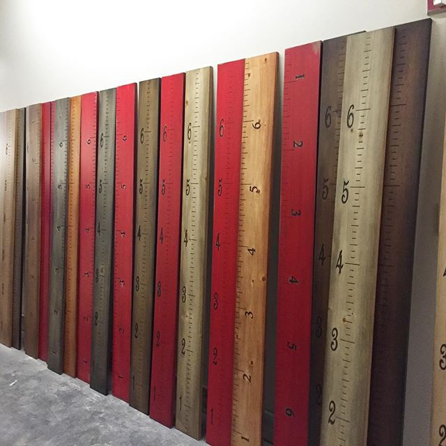 Making ruler growth charts! They make great Christmas gifts. Call us if you want one.