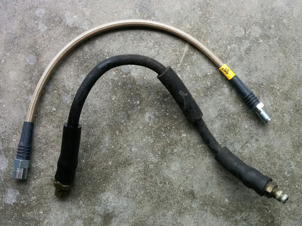 Stoptech and OEM rear brake hoses: