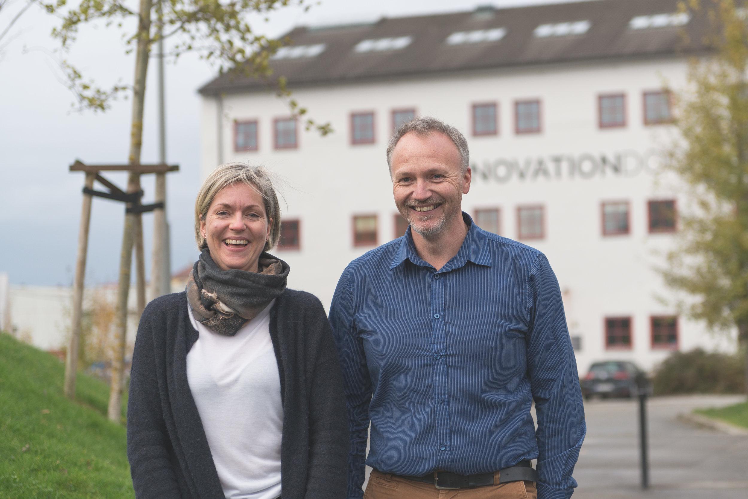 Maria Aasbø og Jan Erik Jacobsen. Foto: Alexander Chesham / Studio Stavanger