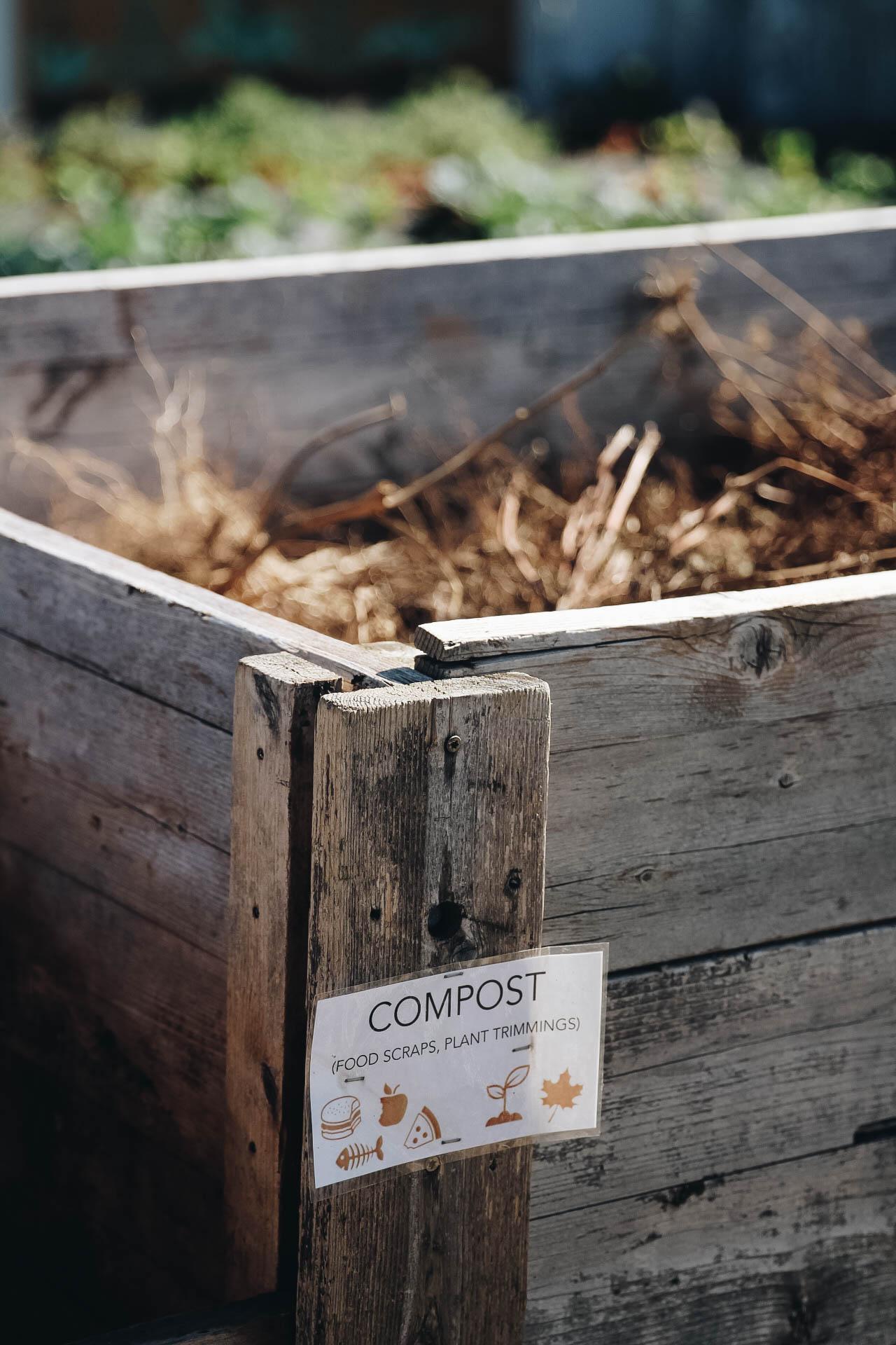 huge composting operation