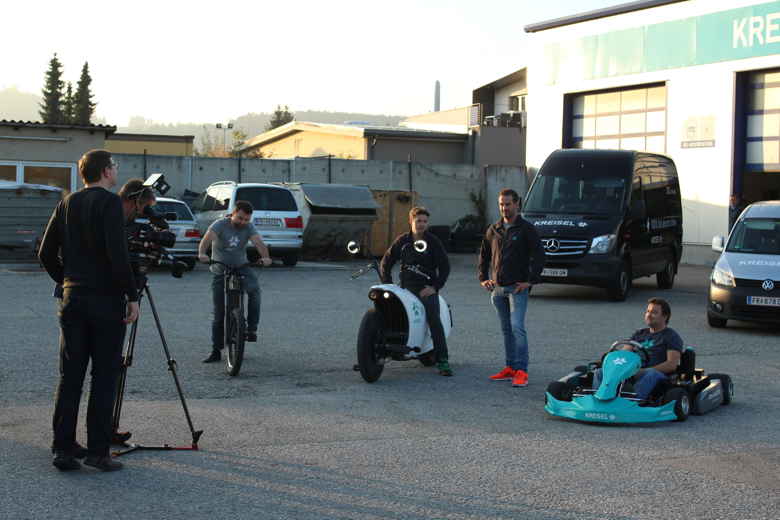 Producing/Directing Sequences and the crew with The Legendary Kreisel Brothers in Austria