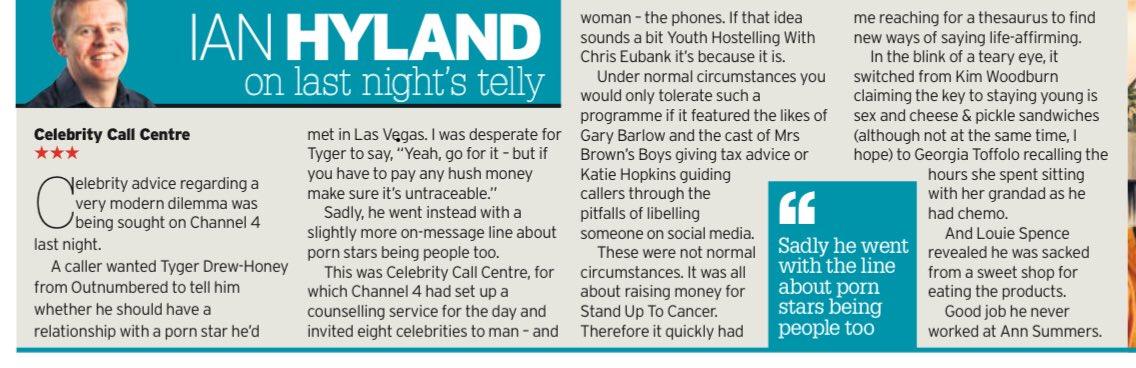 Celebrity Call Centre - Story Producer for Kim Woodburn & Tyger Drew-Honey