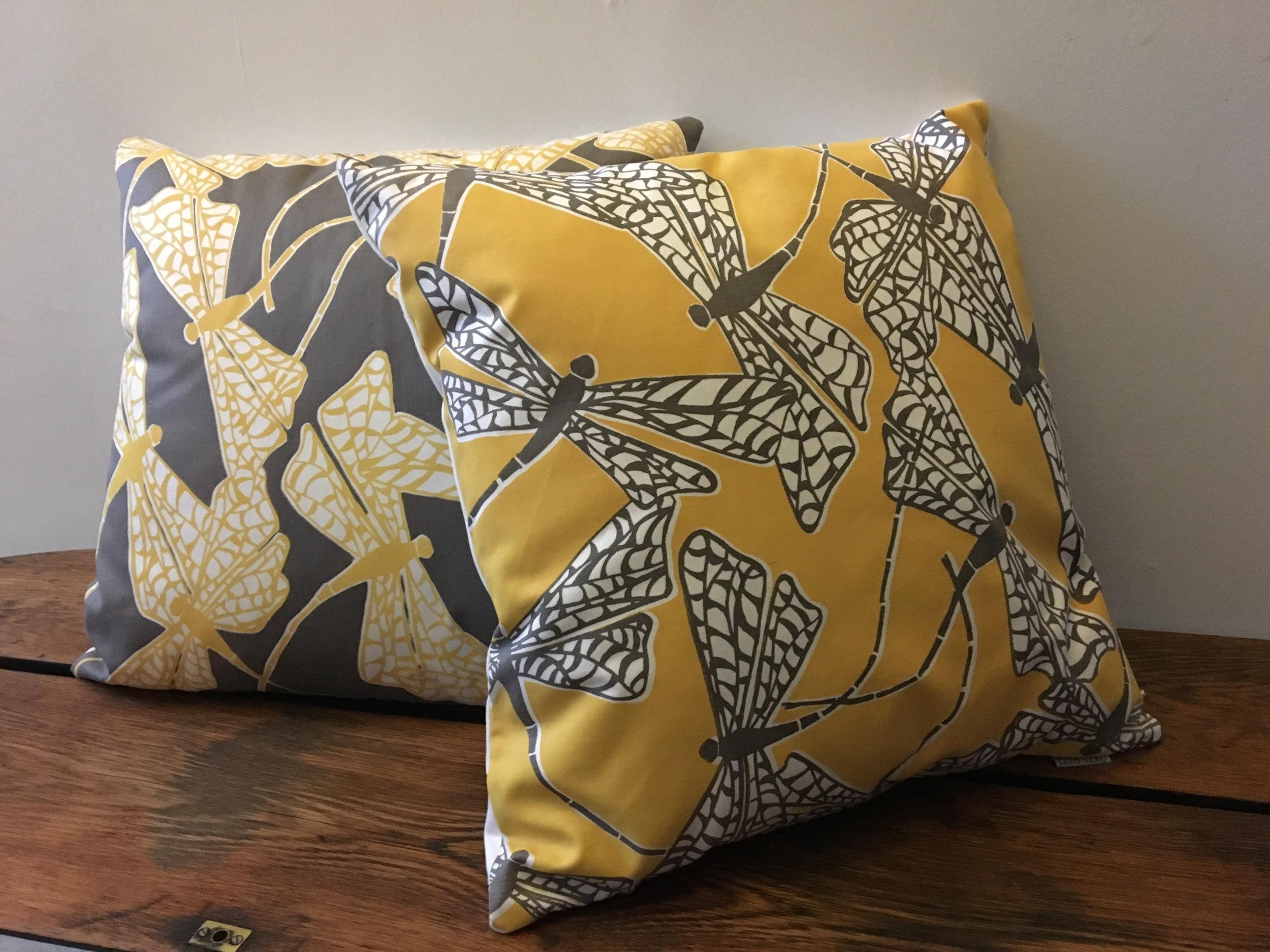 Dancing Dragonflies cushion