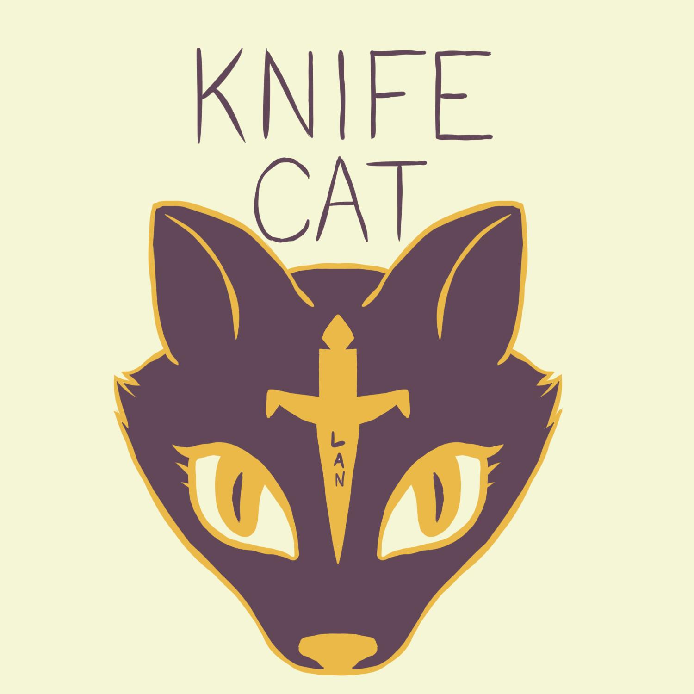 Knife Cat Art