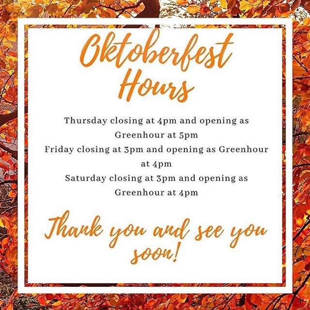 Happy Oktoberfest!! Green Hour is celebrating by extending our hours this weekend. Green Light shines tonight at 5pm, and 4pm Friday and Saturday! Cheers! #oktoberfest #germantowntn #greenhournashville #thingstodoinnashville #morethanjustabsinthe #absinthe #nashvillecocktails