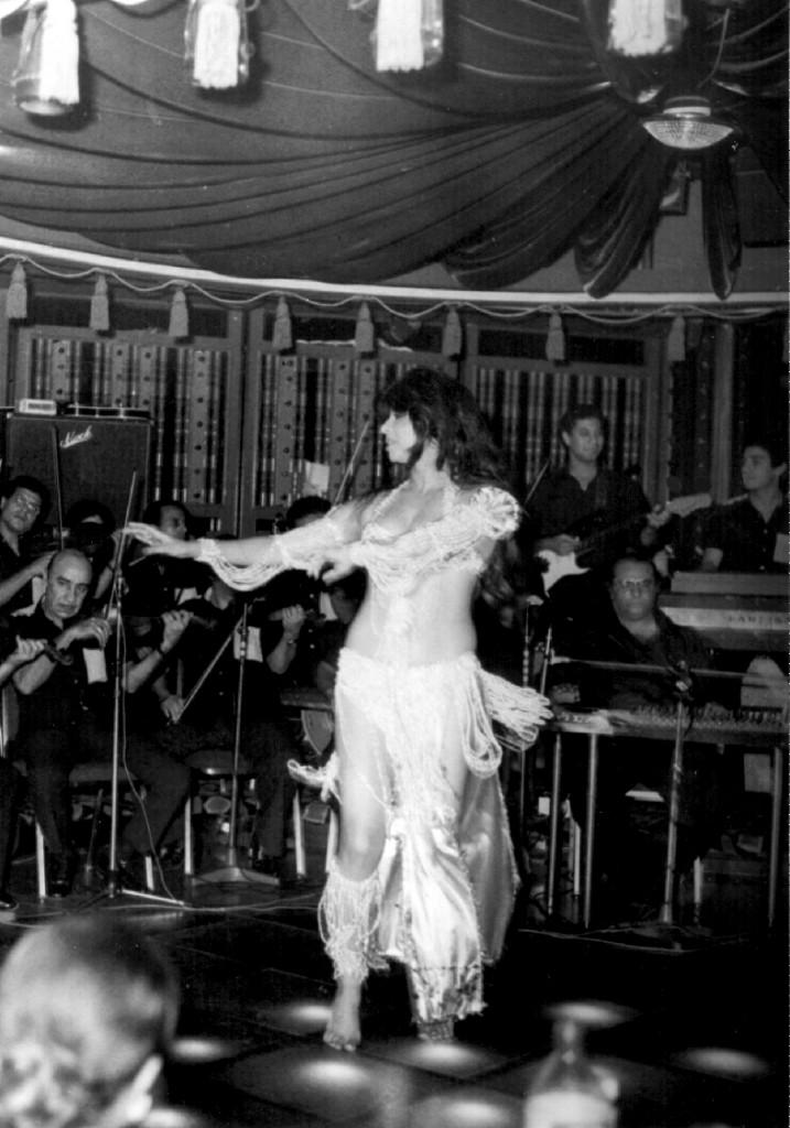 Egyptian Belly Dance Star Mona Al Said dancing at the Omar Khayyam nightclub in London