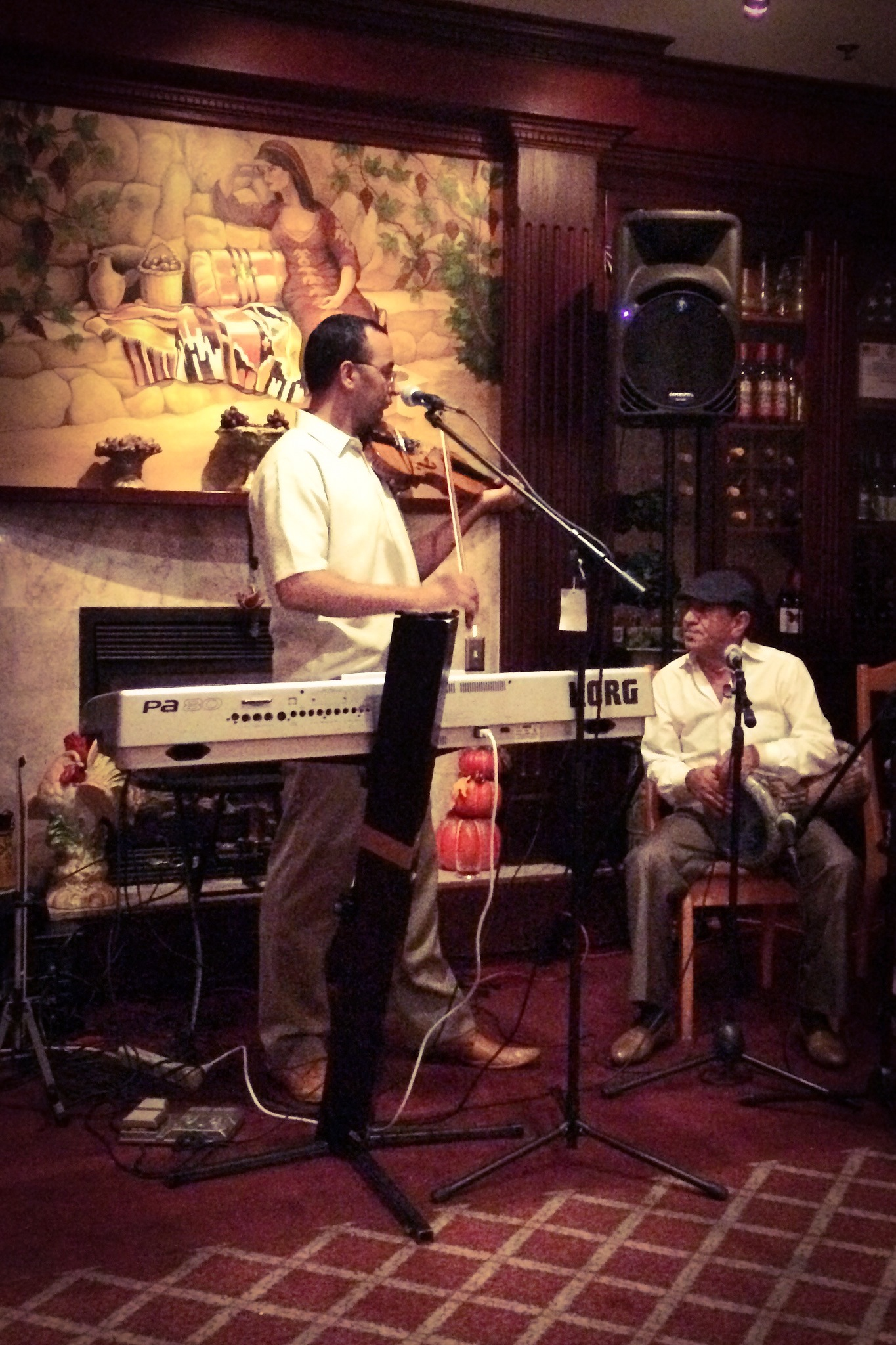 Violinist Younes Makboul and Sensational Singer Khalil Abboud at Tannourine Restaurant in San Mateo