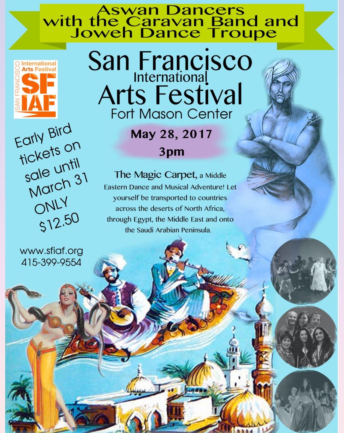 Amina Goodyear and the Aswan Dancers perform The Magic Carpet at the San Francisco International Arts Festival 2017