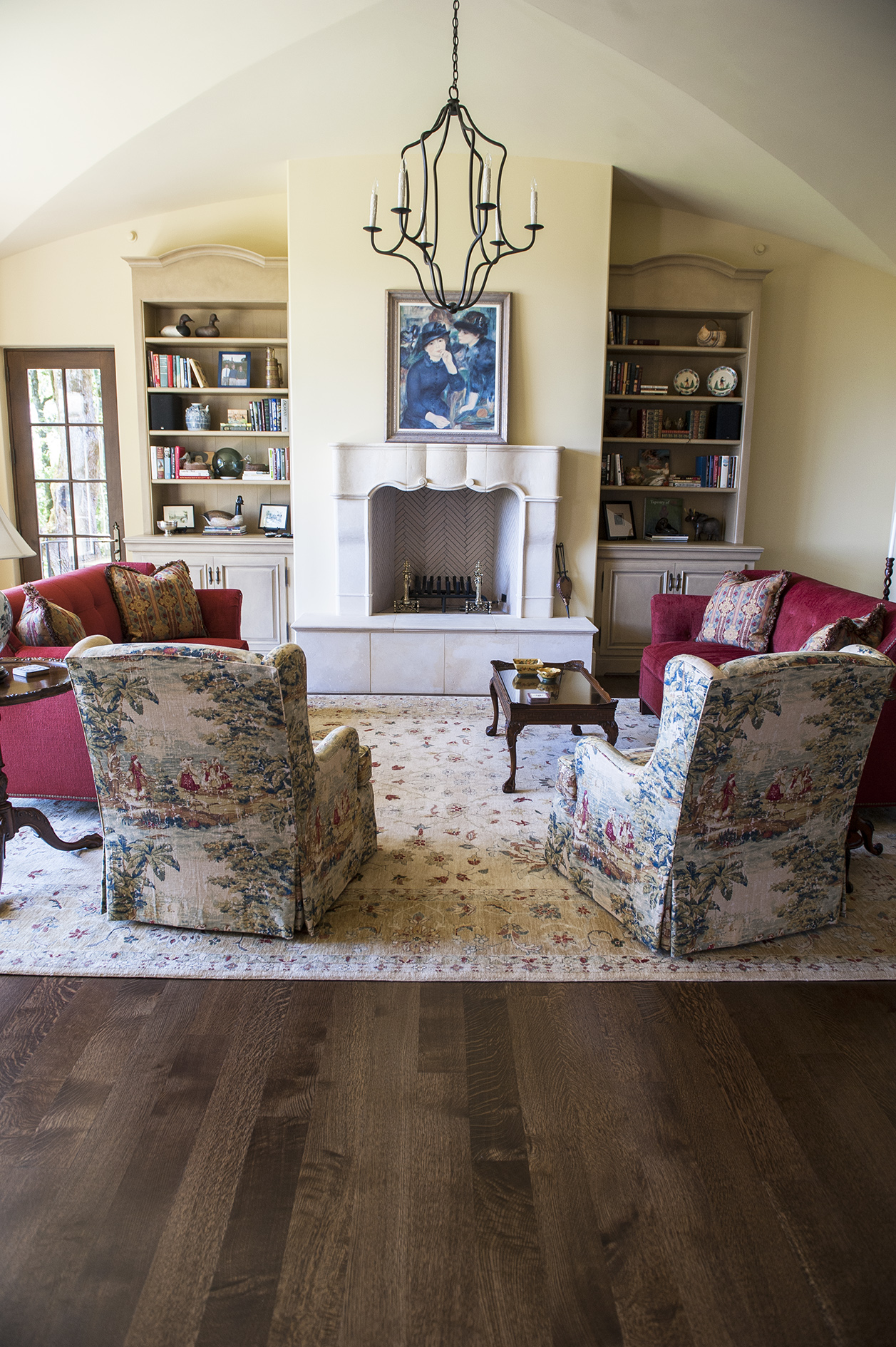 Lake Oswego Custom Home Living Room