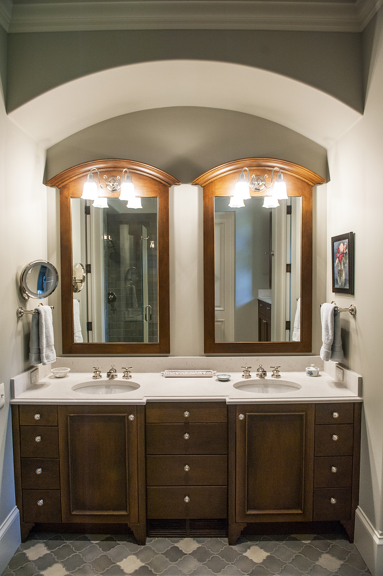 Lake Oswego Custom Home Bathroom Sink