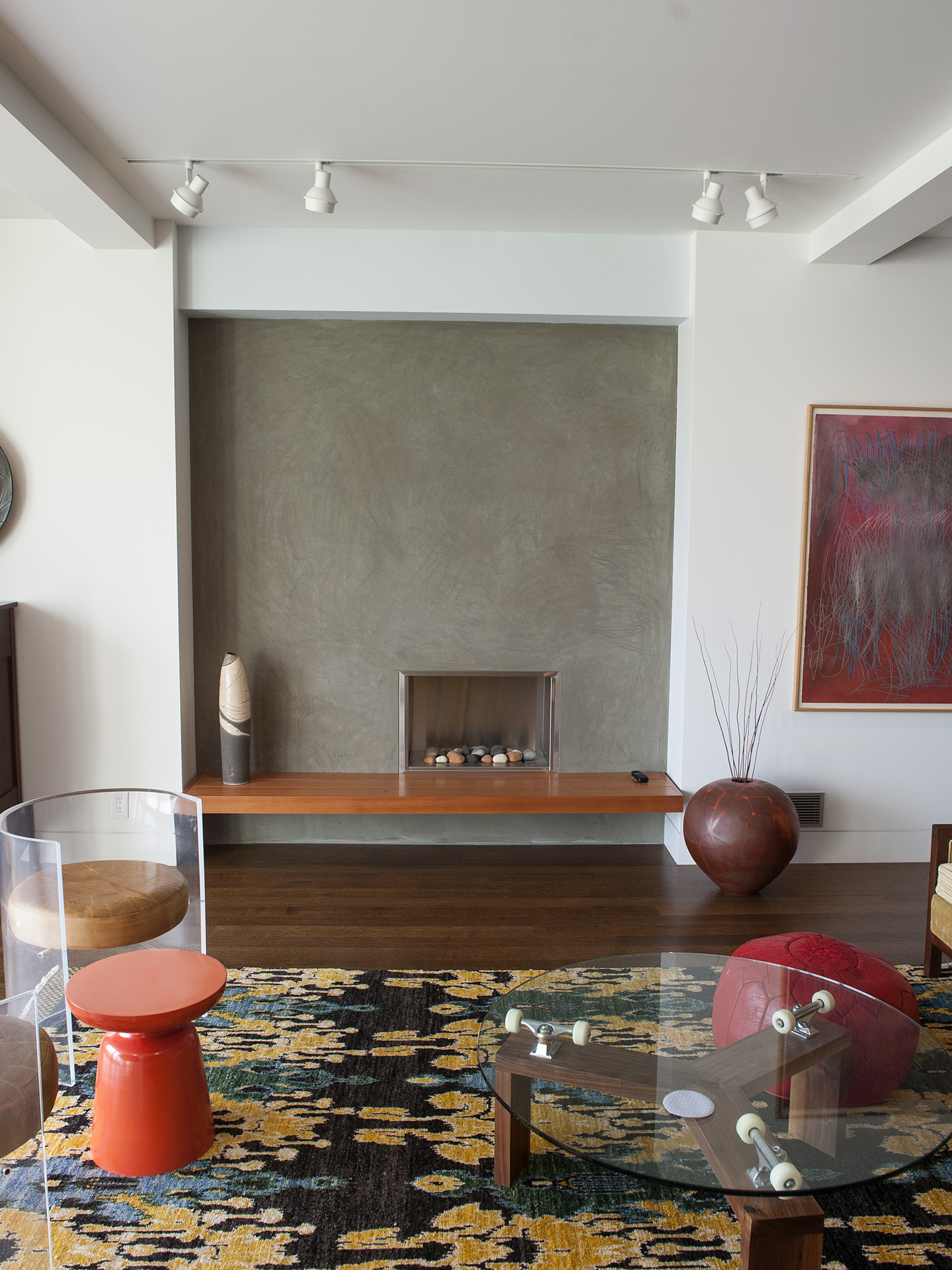 Portland Contemporary Remodel Living Room