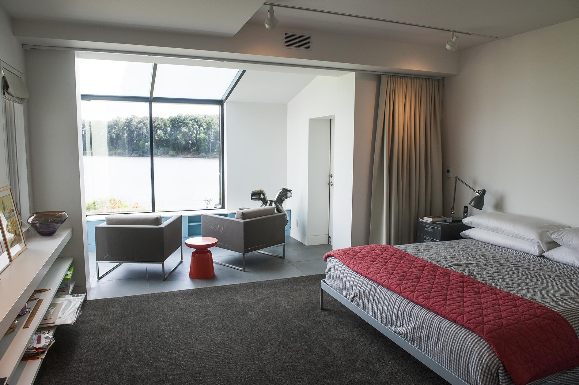 Portland Contemporary Remodel Master Bedroom