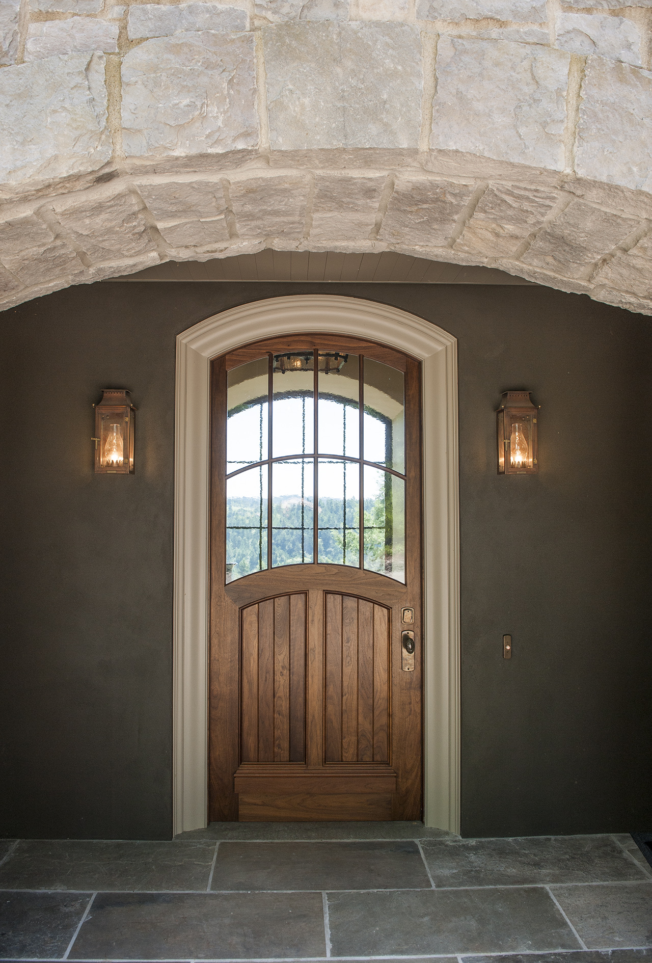 Lake Oswego Custom Home Doorway