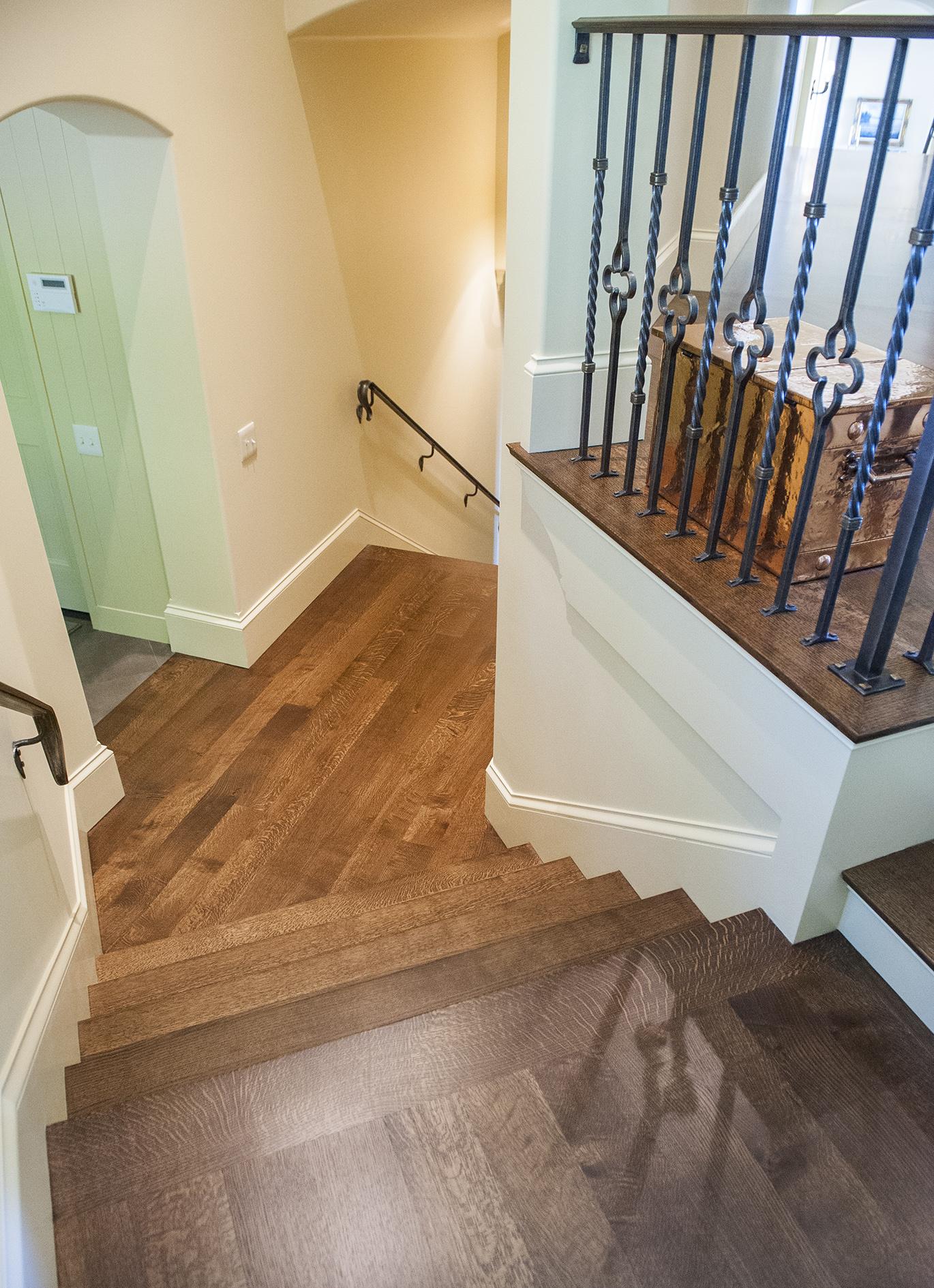 Lake Oswego Custom Home Stairway
