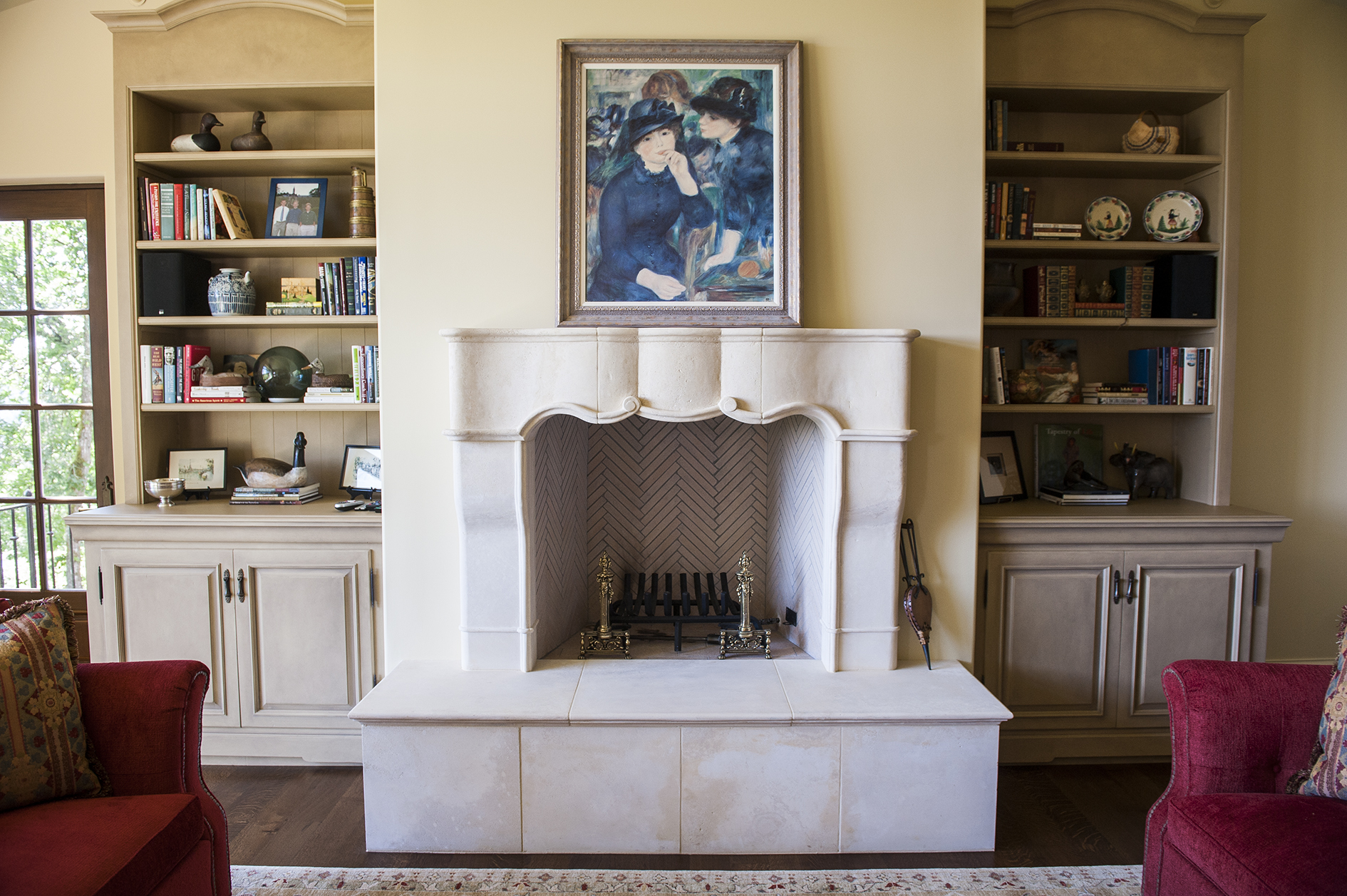 Lake Oswego Custom Home Fireplace