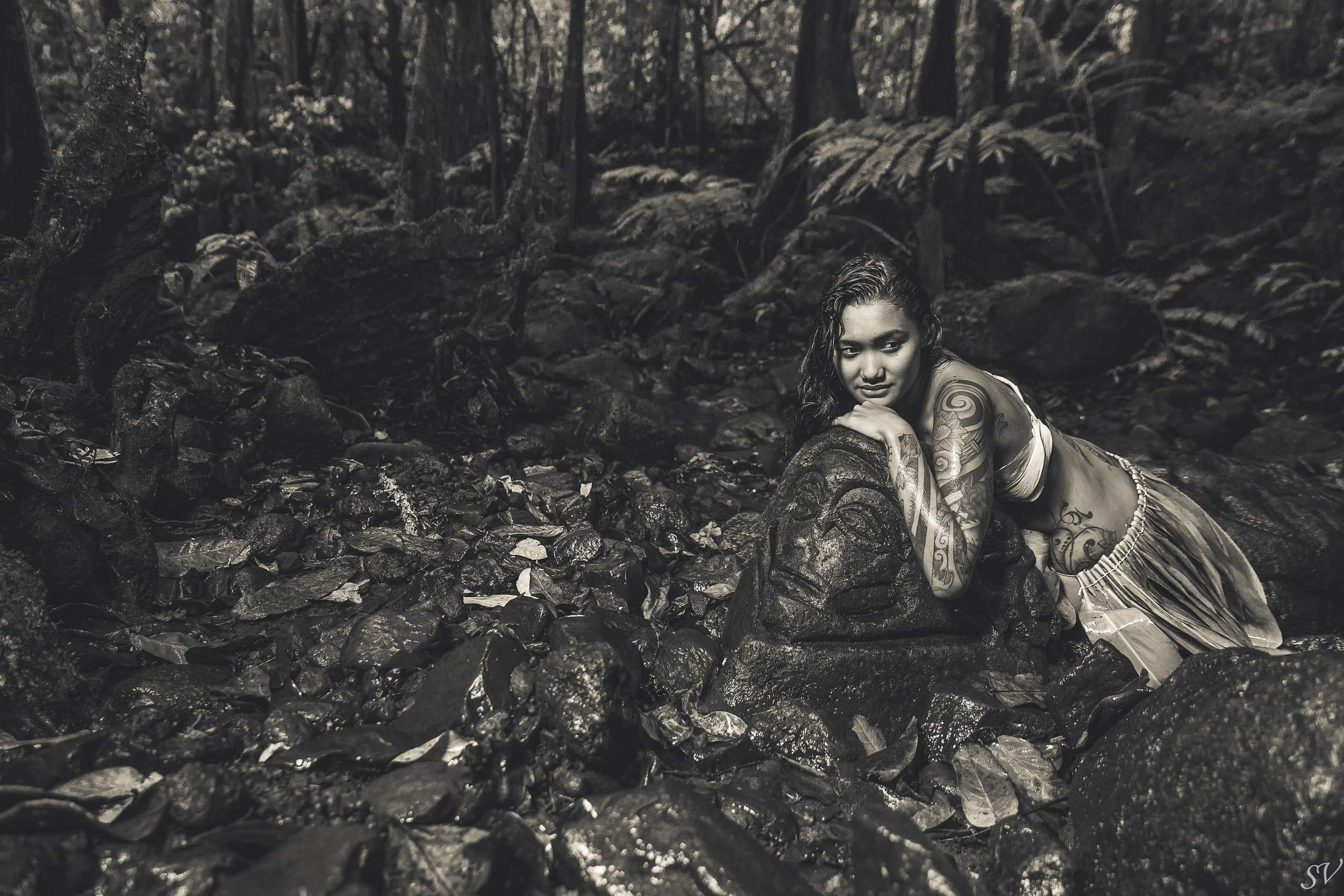 """Show me your roots"" personal project about Polynesian and Maori culture continue in Moorea."