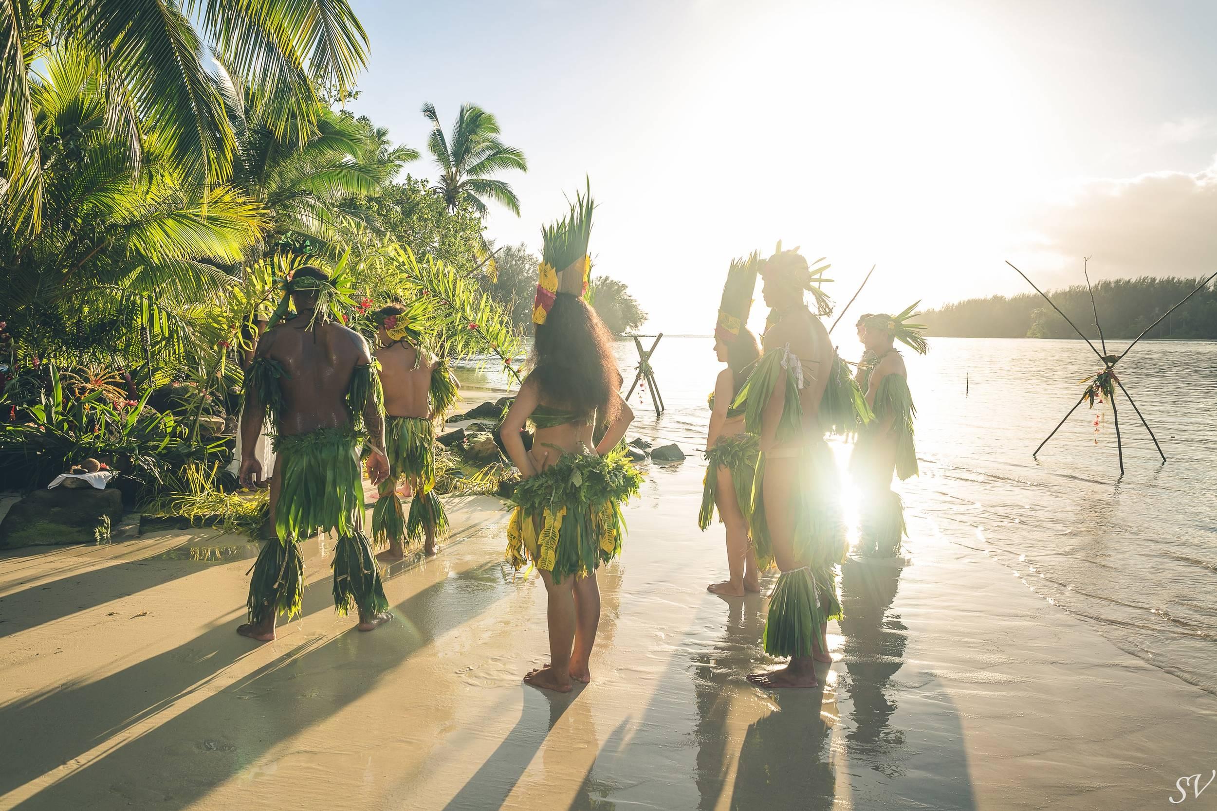 Destination wedding in Polynesia