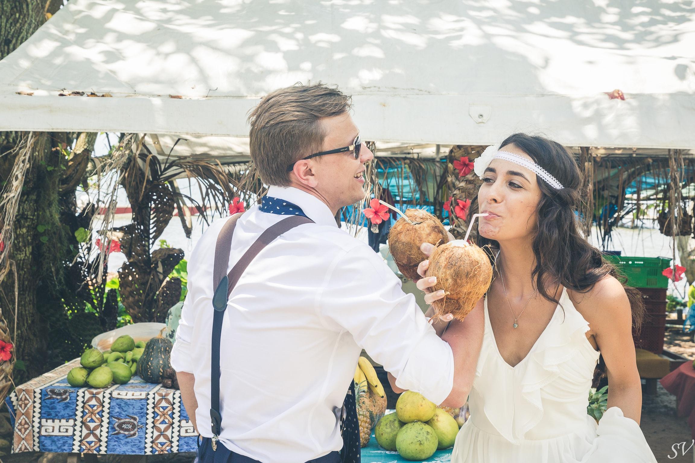 Coconut celebration for a destination wedding