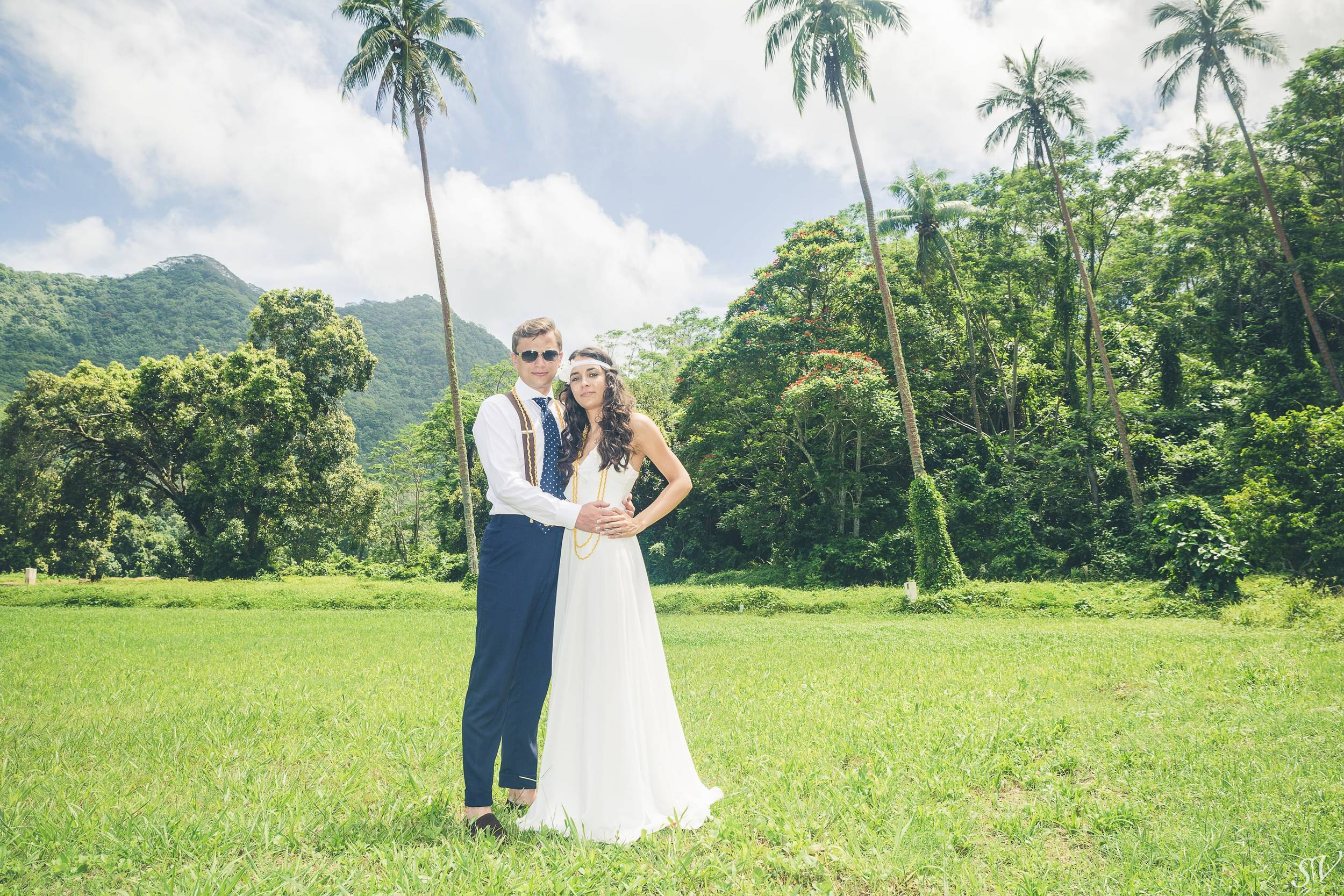 Bride and groom shoot after the ceremony