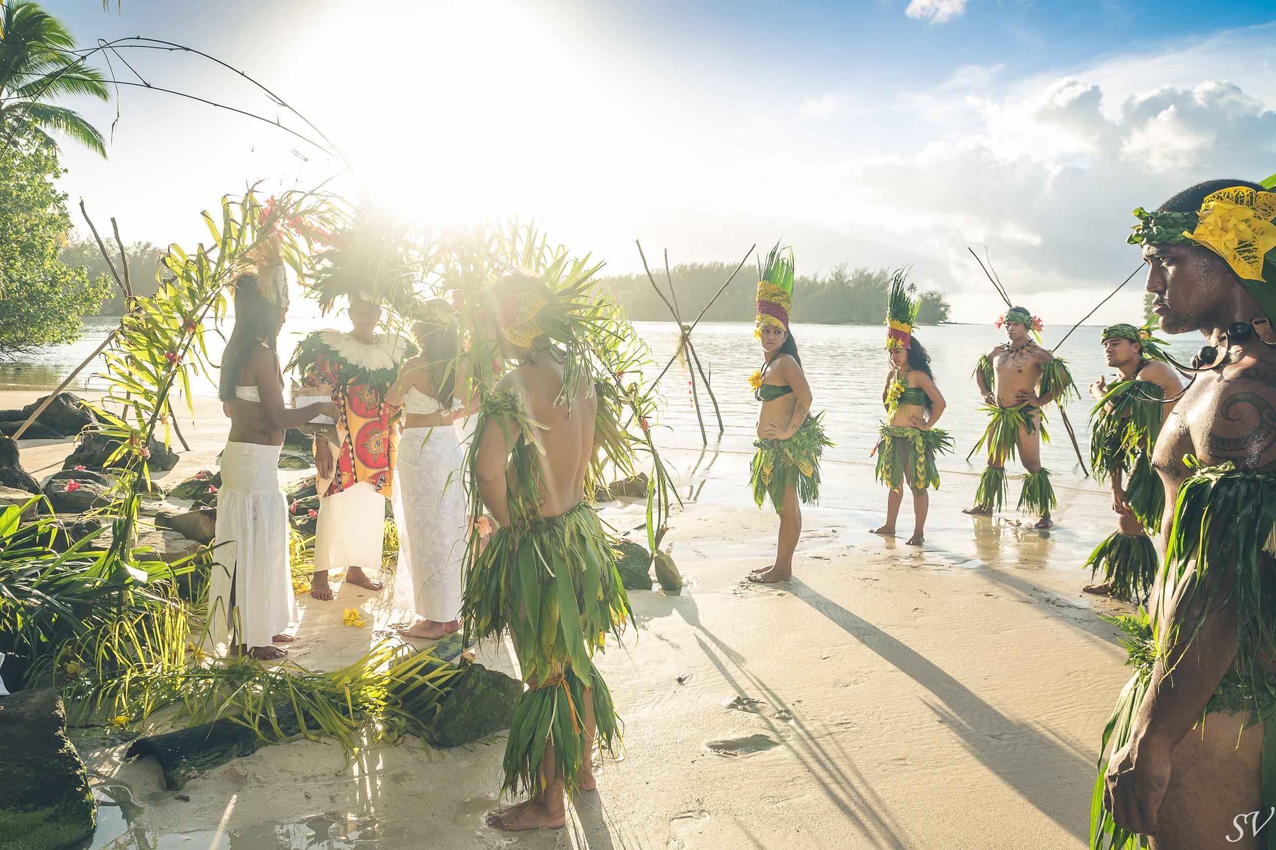 Destination wedding in French Polynesia