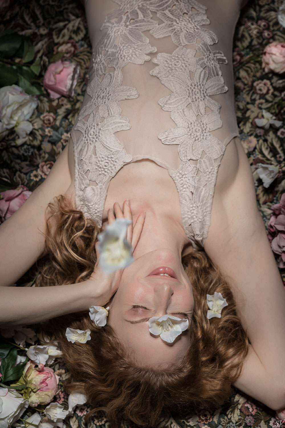 Beautiful floral inspiration lingerie session