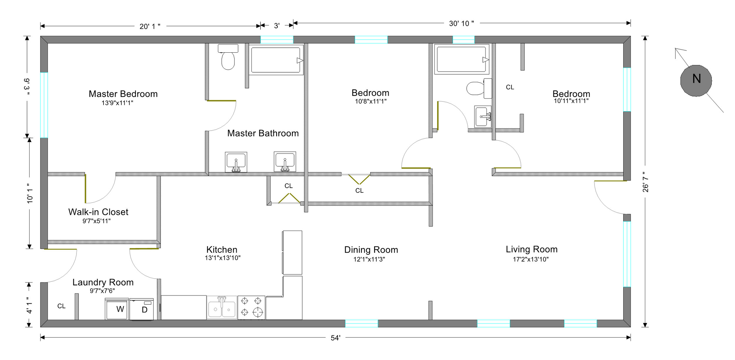 2d floor plan real estate