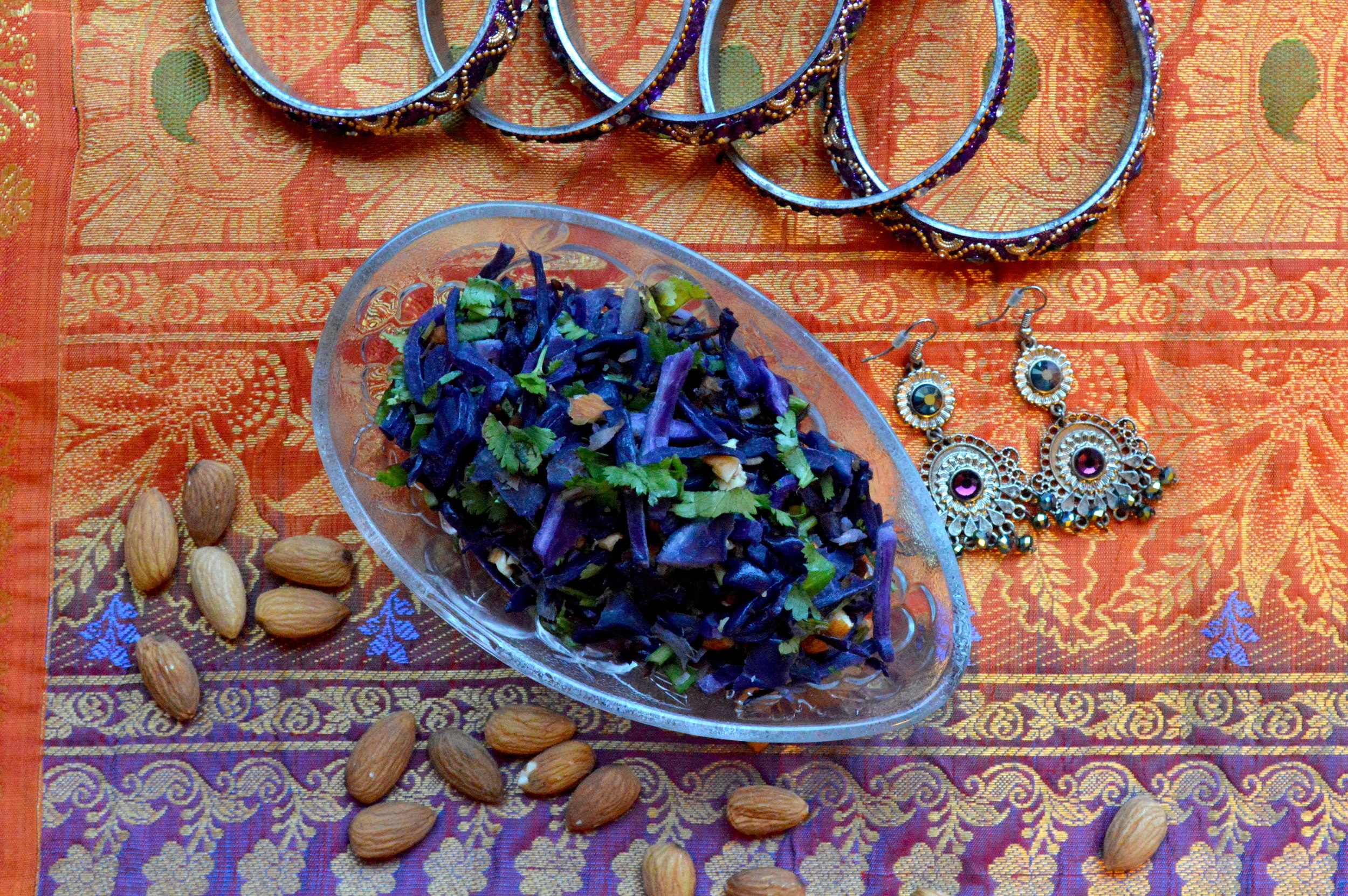 purple cabbage sauteed, healthy, onelifetwoways, south indian, vegan, recipe
