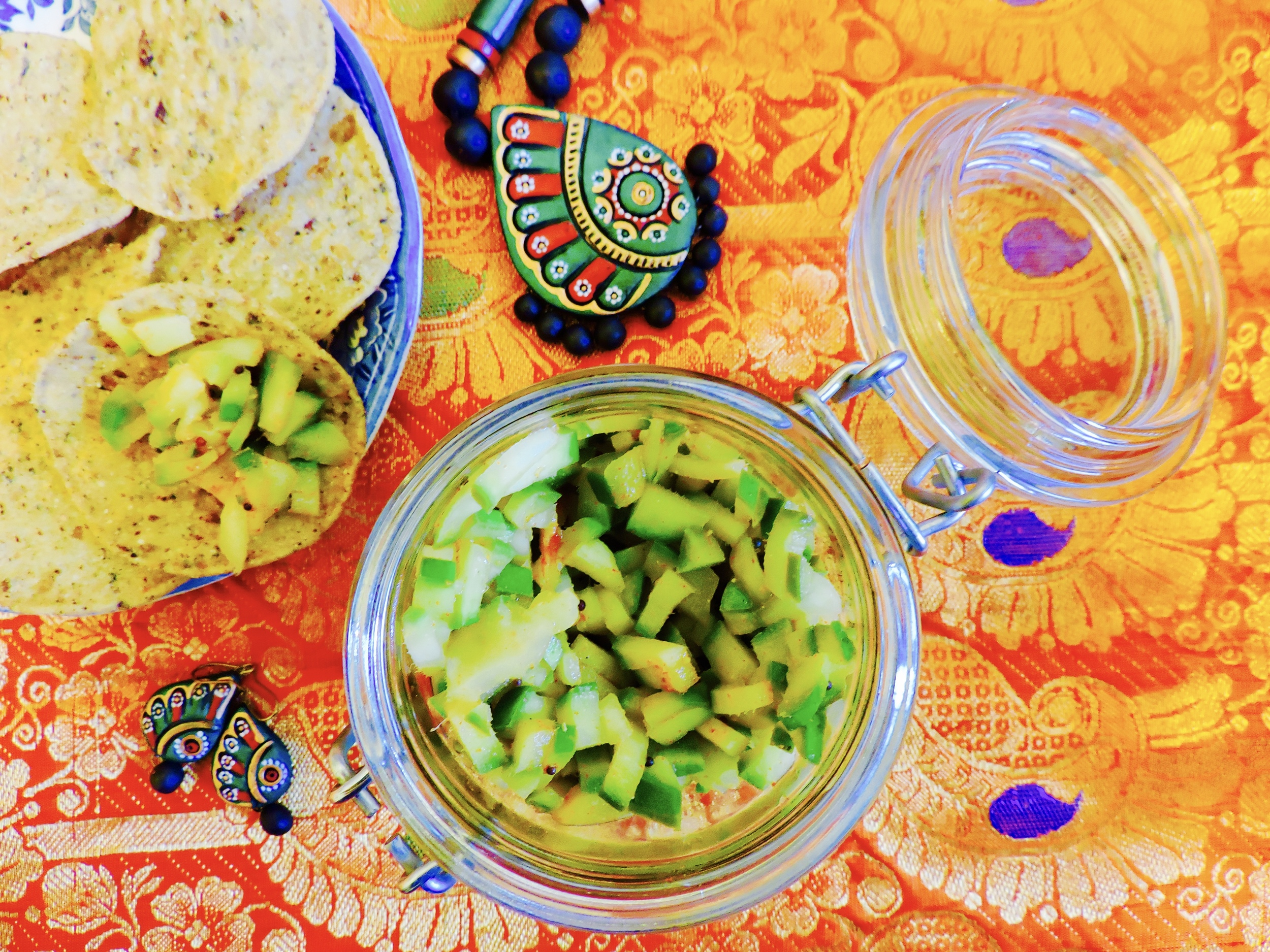 mango salsa, spicy, healthy, onelifetwoways, south indian, vegan, recipe