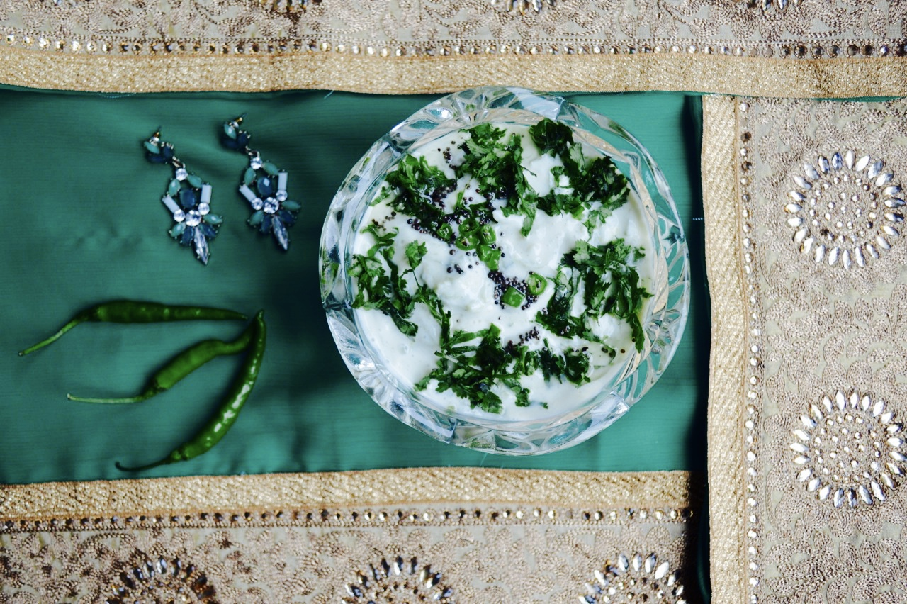 cucumber yoghurt, raita, healthy, onelifetwoways, south indian, vegan, recipe